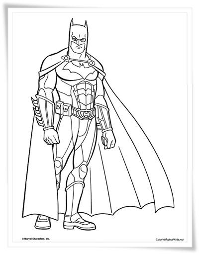 Ausmalbilder zum Ausdrucken: Ausmalbilder Batman Kostenlos