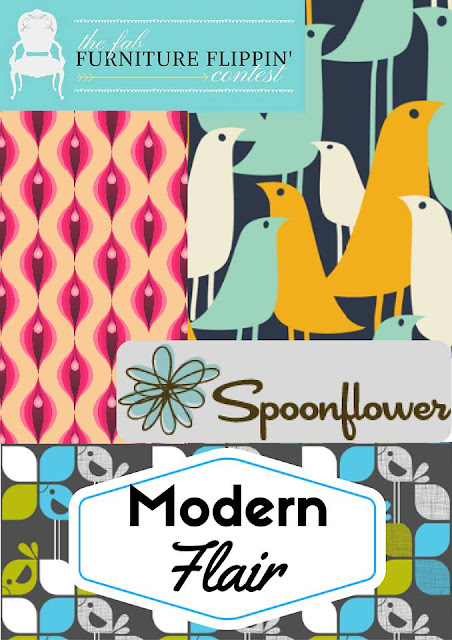 Fab Furniture Flippin Contest Featuring Spoonflower