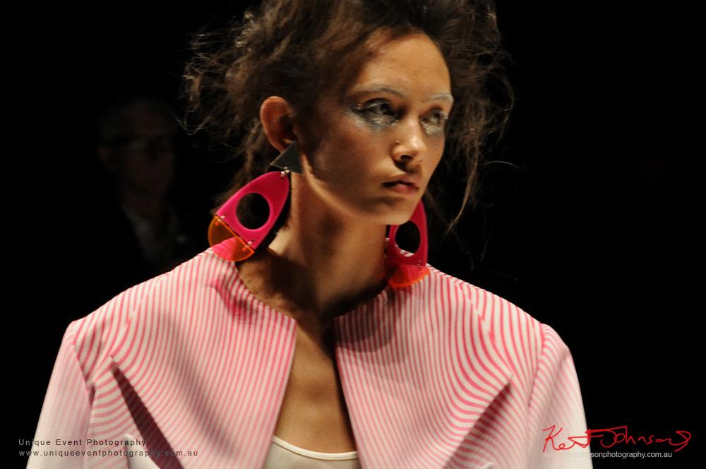 Leah Williams womens wear, Italian 60s inspired patterns - Designers from Raffles International Showcase 2016 - MBFWA  Photographed by Kent Johnson.