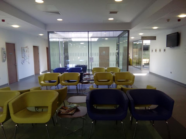 The Christie, Salford - may your waiting area always be like this!