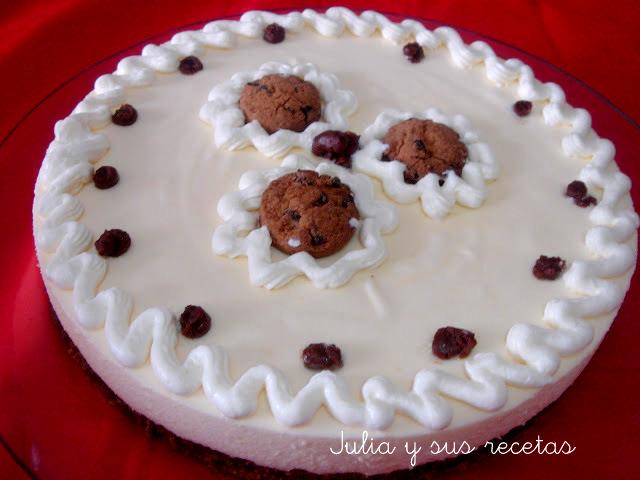 Tarta de queso mascarpone y cookies. Julia y sus recetas