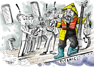 IaTriDis Γελοιογραφία : Βιολιά στον Τιτανικό