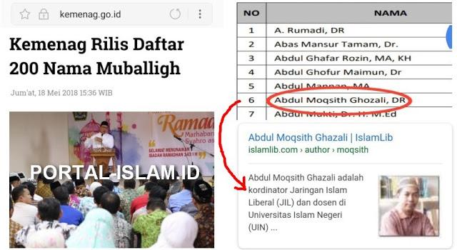 HEBOH.. Pentolan JIL (Islam Liberal) Malah Masuk Daftar 200 Muballigh Yang Direkomendasikan Kemenag