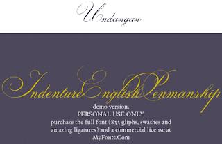 Download 40+ Font Latin Keren Untuk Desain Undangan Pernikahan, Indenture English Penman