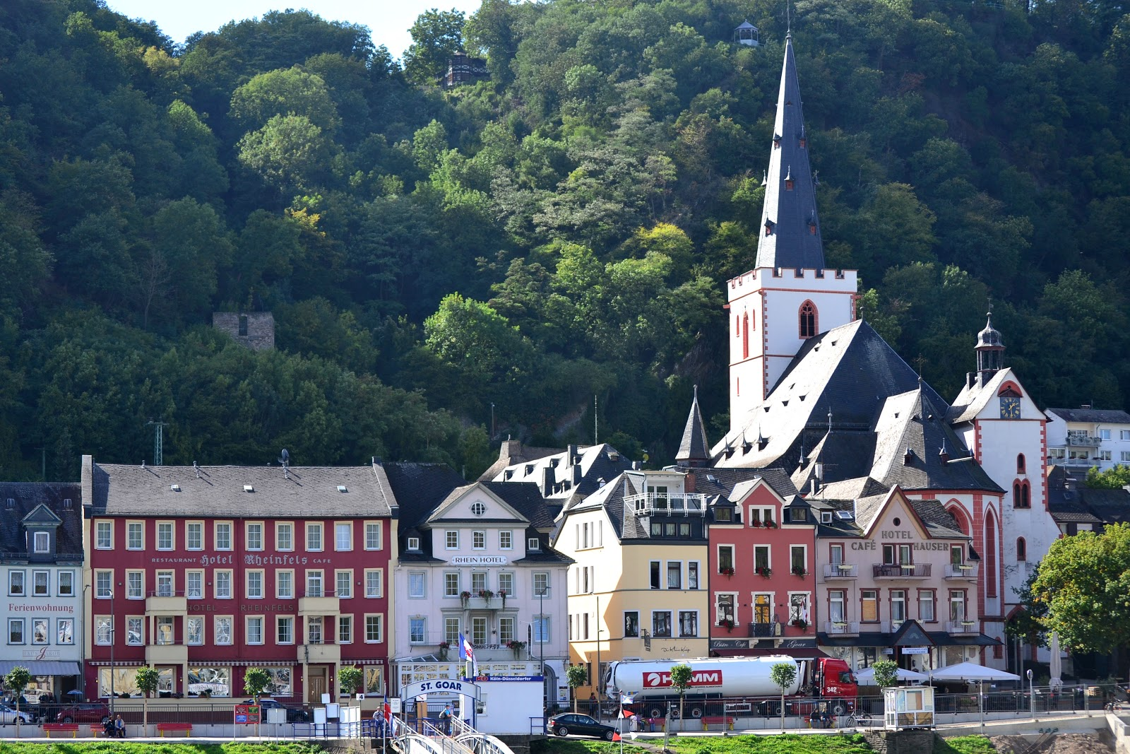 Saint Goar along the Rhine River in Germany.