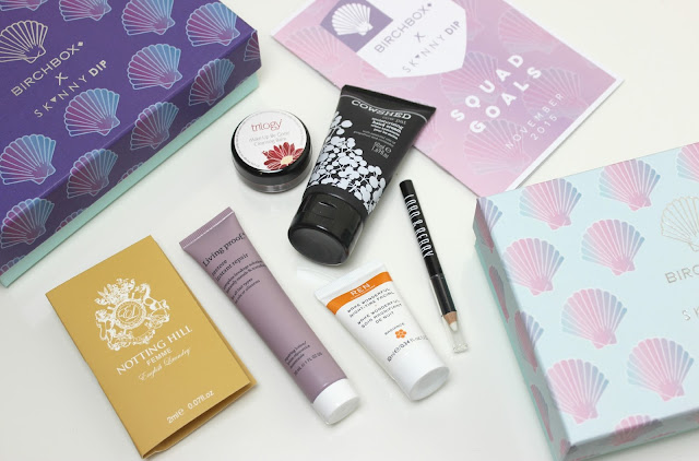 A picture of the November Birchbox x Skinny Dip box