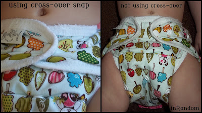 cross-over snap on diaper cover