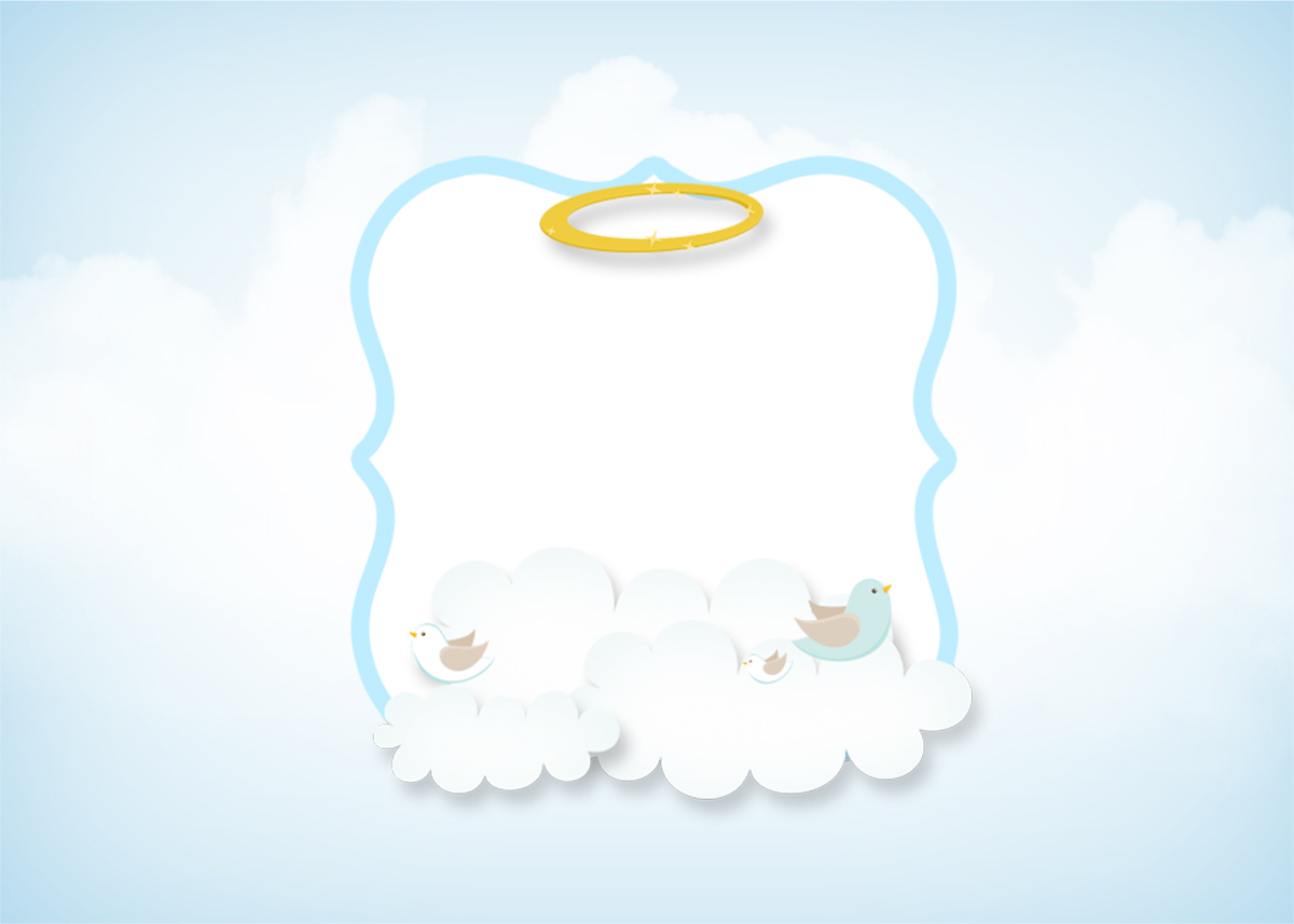 Finest Cute Angel Boy: Free Printable Invitations. | Oh My Baby! DM66