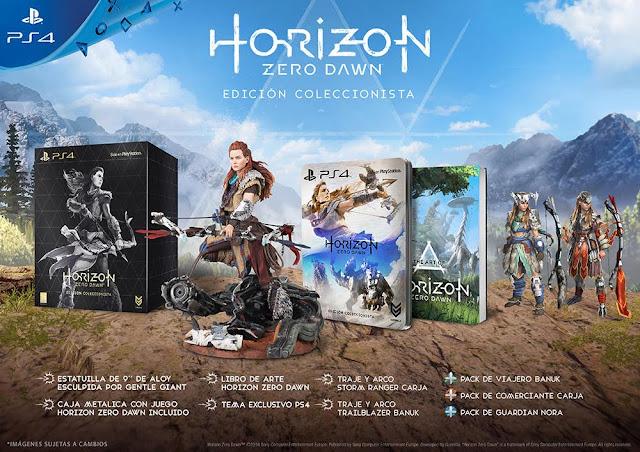 Se anuncia pack de PS4 con el videojuego Horizon Zero Dawn, y se presentan sus ediciones especiales 2