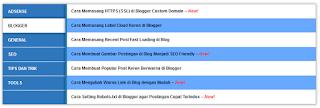 Sitemap Keren Responsive Seo Friendly Ada Labelnya