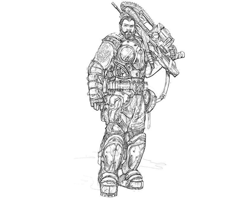 Gears Of War Coloring Pages - Eskayalitim
