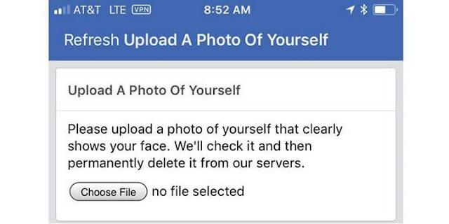 ميزة التعرف على الوجه من فيسبوك