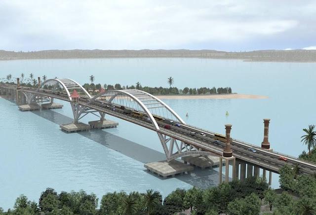 Megahnya Jembatan Kebanggaan Presiden Jokowi di Papua