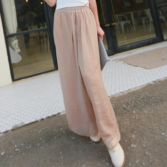 Celana Kulot Panjang Bahan Sifon Import Korea Murah