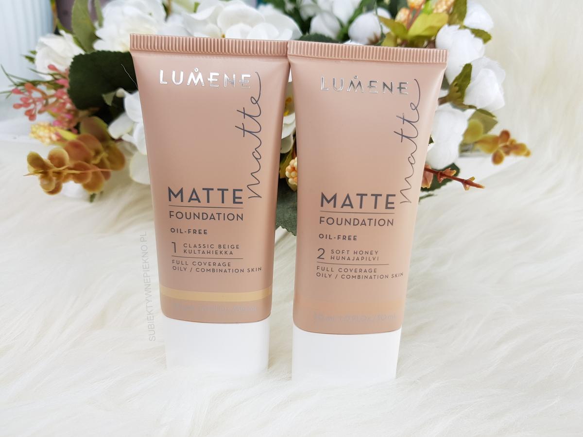 Podkład LUMENE MATTE FOUNDATION 1 Classic Beige i 2 Soft Honey | Swatche i recenzja