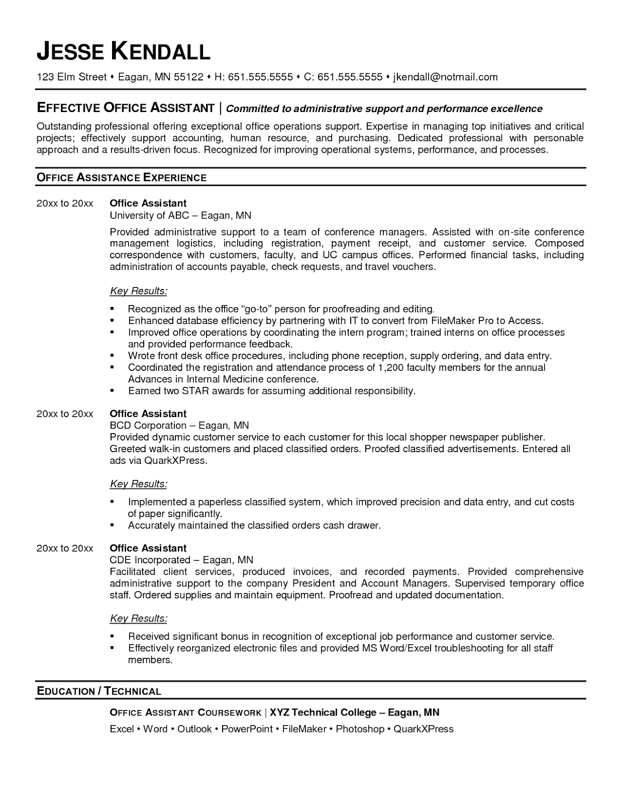 Office Administration Resume Examples Office Admin Resume Samples Sample Resumes