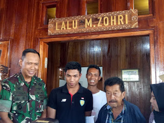 Danrem Dampingi Zuhri Pelari Dunia Tinjau Rumah Baru di Kampung Halaman