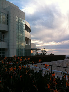 The Getty Research Institute at twilight