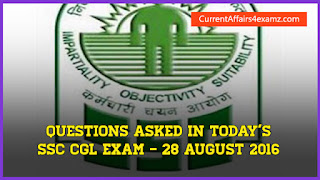 SSC CGL 28 August 2016 Questions