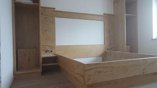 Schlafzimmer mit Bergblick