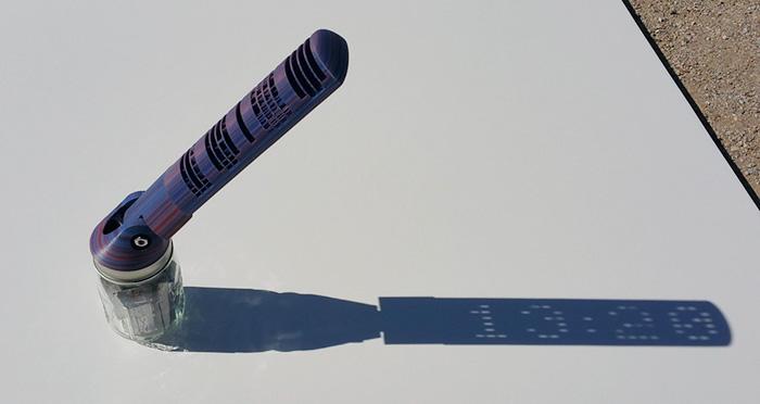 Relógio de sol impresso em 3D