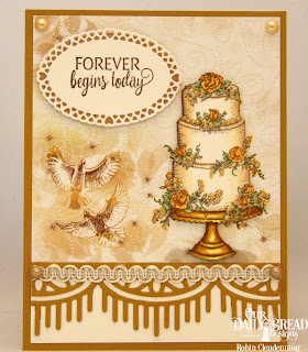 Our Daily Bread Designs Stamp Set: Long lasting Love, Paper Collection: Wedding Wishes, Custom Dies: Beautiful Borders, Layered Lacey Ovals