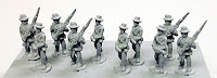 "PR6 Infantry in Slouch Hat - Advancing Advancing infantry in slouch hat, with musket held ""en garde"" or at the high port - 2 poses."