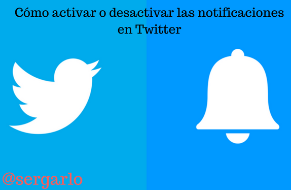 twitter, redes sociales, notificaciones, activar, desactivar