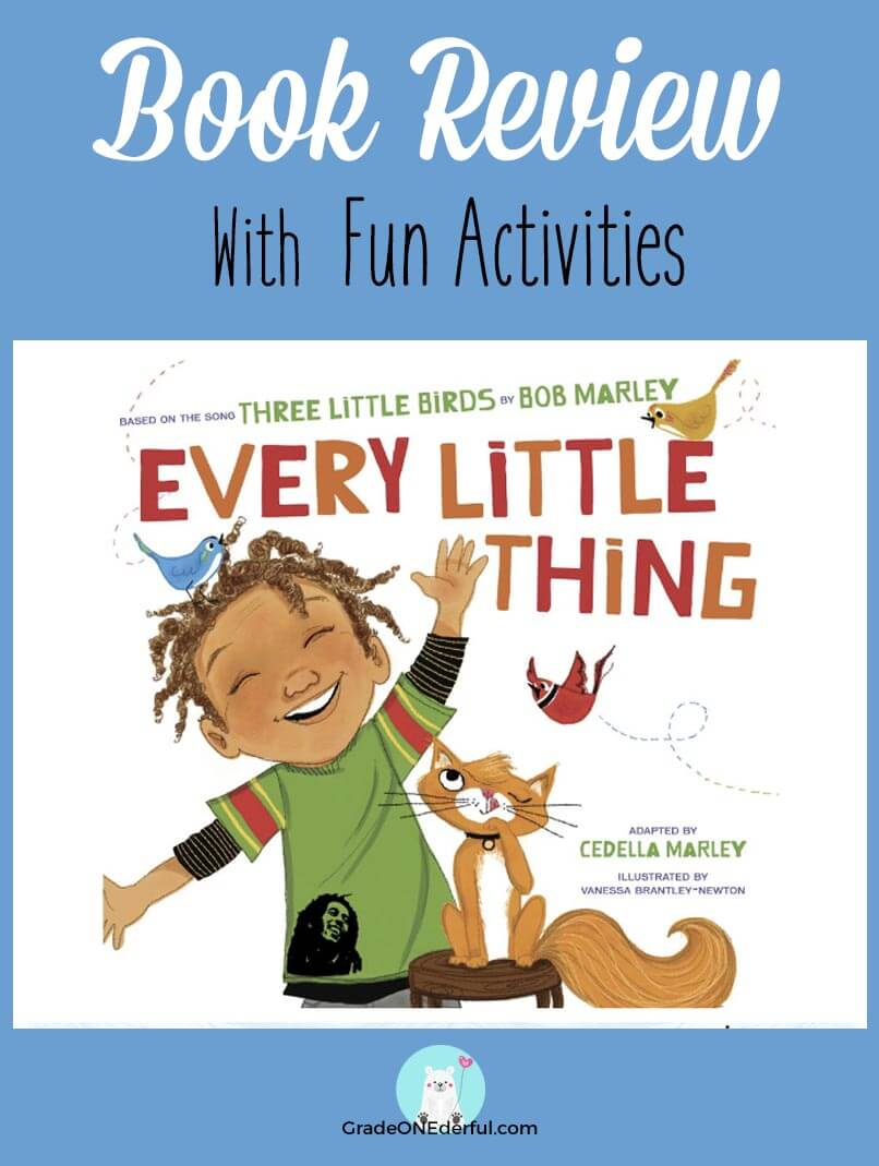 Every Little Thing book review and related activities. This beautiful book by Bob Marley's daughter is the perfect read for the little worriers in your house!