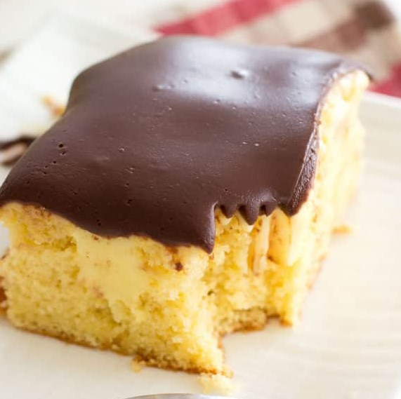 BOSTON CREAM POKE CAKE #chocolate #dessert