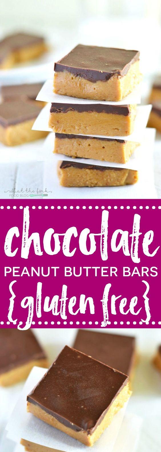 Gluten Free Chocolate Peanut Butter Bars