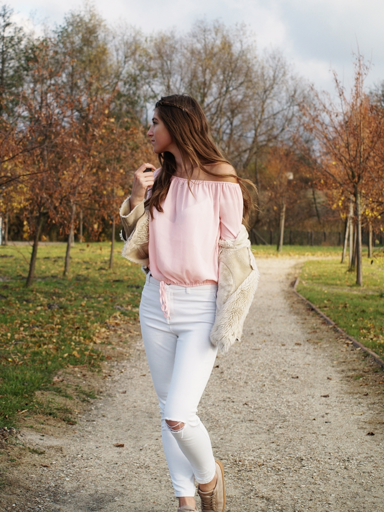 BEIGE JACKET | BLOUSE ROSEGAL
