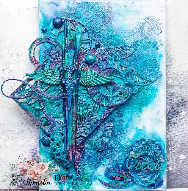 Turkusowy blejtram/ Turquoise canvas