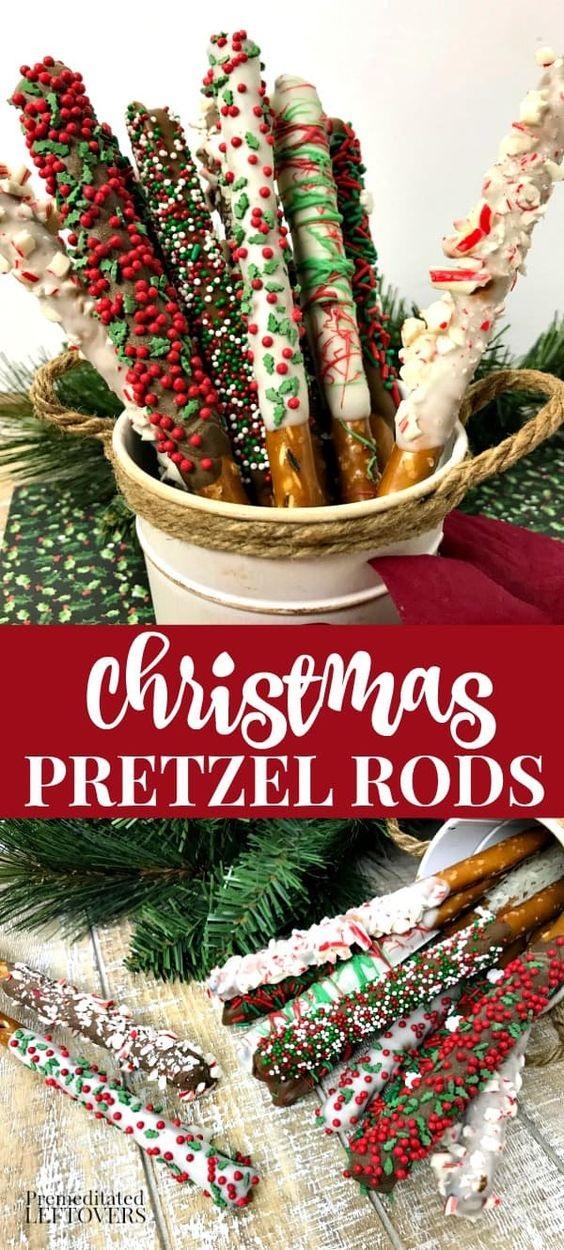 Christmas Pretzel Rods Recipe