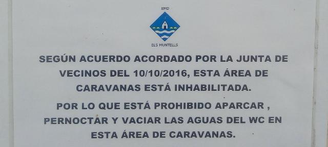 Detall del cartell prohibitiu