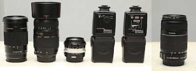 Jual External Flash dan Lensa DSLR 2nd Malang