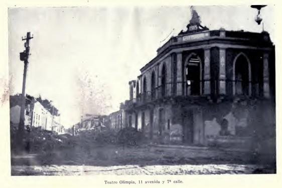 Teatro Olimpia, Terremoto en Guatemala 1917 1918