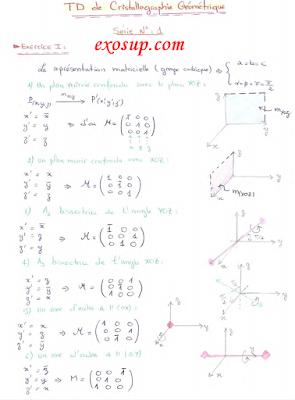 td de cristallographie géométrique + correction SMC