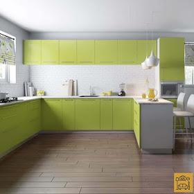 Vishu Interiors Low Cost Kitchen Cabinet Ideas