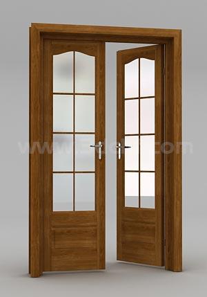 double door 3d model free