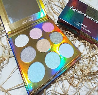 Ucanbe Kaleidoscope Holographic Highlighter Palette