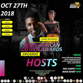 ERICARDO AND FUNMI RICHARDS TO HOST WAFRIC AWARDS 2018 GRAND FINALE