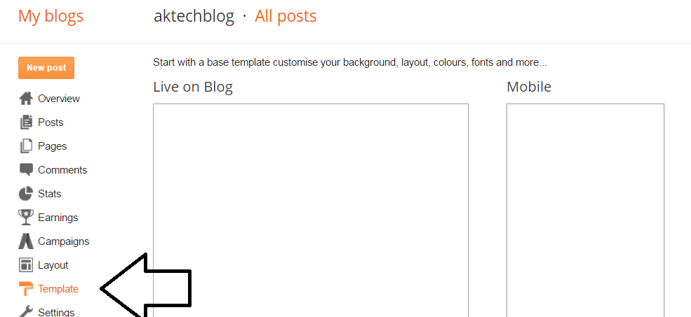 Change Blogger Template
