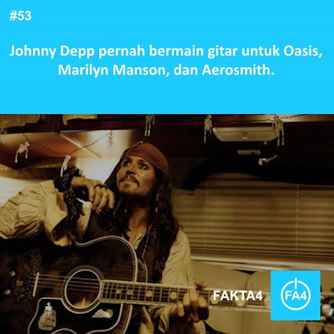 Johnny Depp gitaris