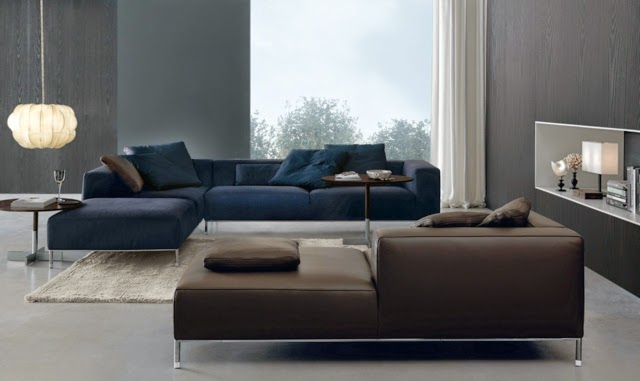 Dise os de salas con paredes grises salas con estilo for Color de sofa para pared gris