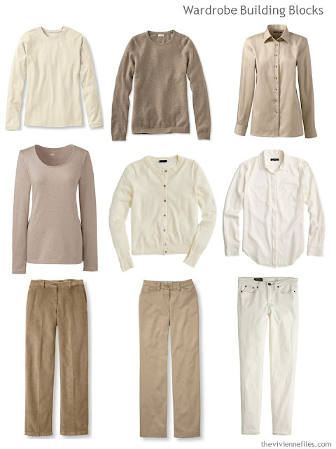 9 warm, neutral Wardrobe Building Blocks