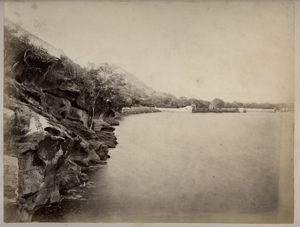Ajmer Lake in Rajasthan - Circa 1880's