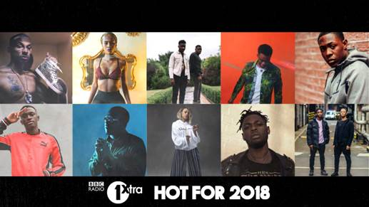 BBC RADIO 1XTRA PREDICTS THE HOTTEST ACTS OF 2018