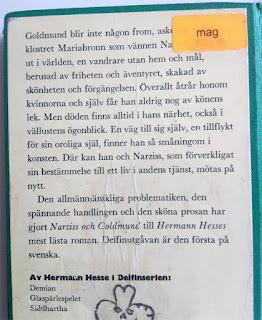 Baksidan av Narcissus och Goldmund.