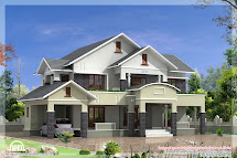 4 Bedroom Sloped Roof House In 2900 Sq.feet - Kerala Home